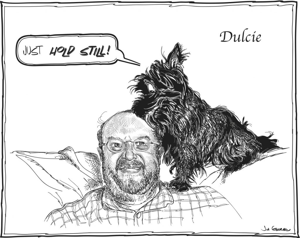 "Dulcie and Don by Jim George of ""Draw the Dog"""