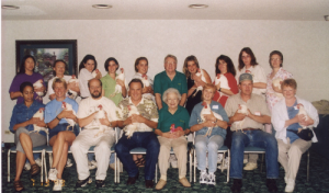 Graduation photo from Introductory Operant Conditioning workshop with Marian and Bob Bailey - 1999
