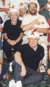 Graduation photo from Intermediate Operant Conditioning workshop with Marian and Bob Bailey - 2000