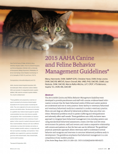 AAHA Bhx Guidelines