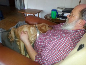 Napping on Don's Lap
