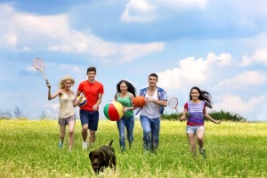 Group of people with dog-canstockphoto26857205